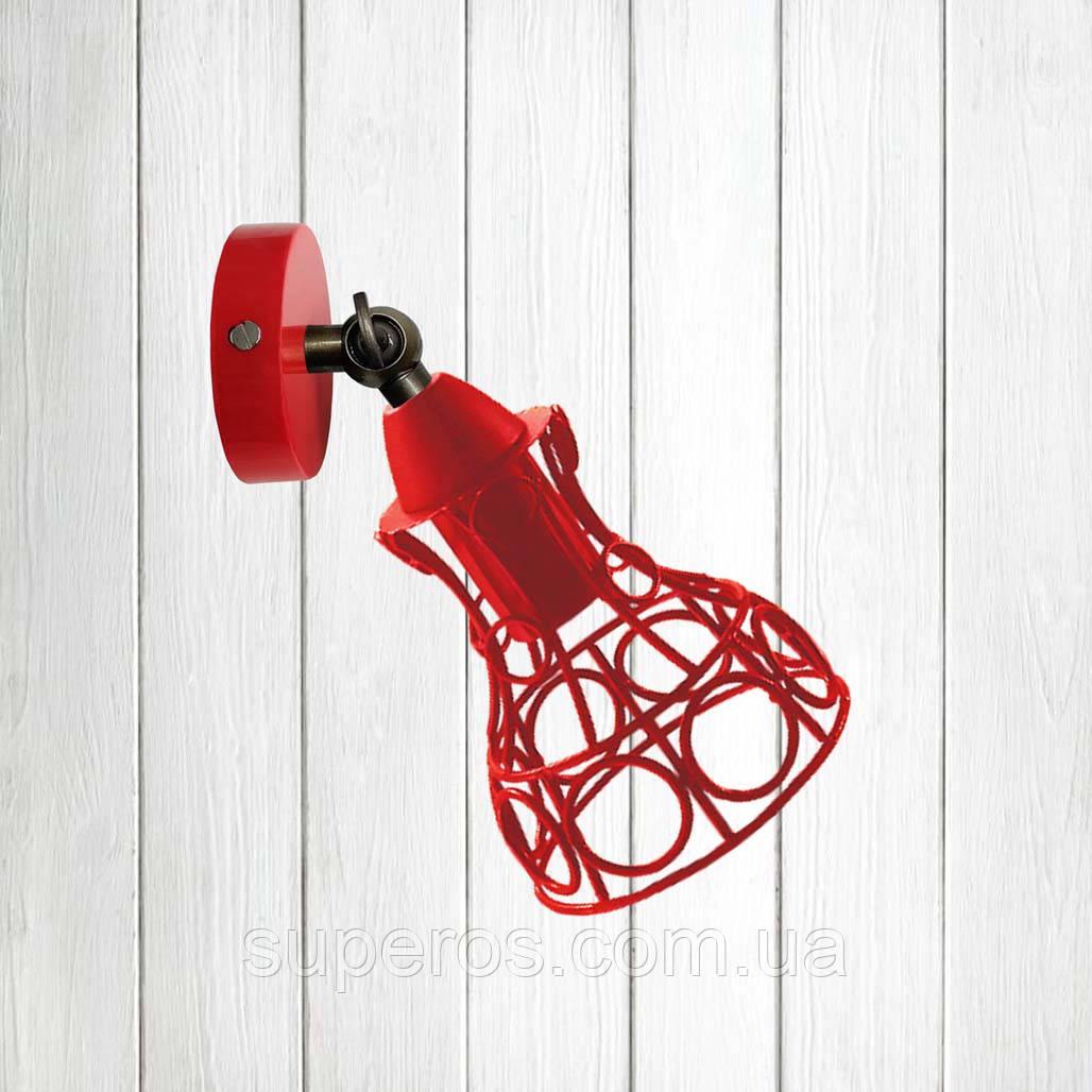 Світильник поворотний на 1-лампу RINGS/LS E27 бра, червоний