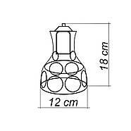 Світильник поворотний на 1-лампу RINGS/LS E27 бра, червоний, фото 2