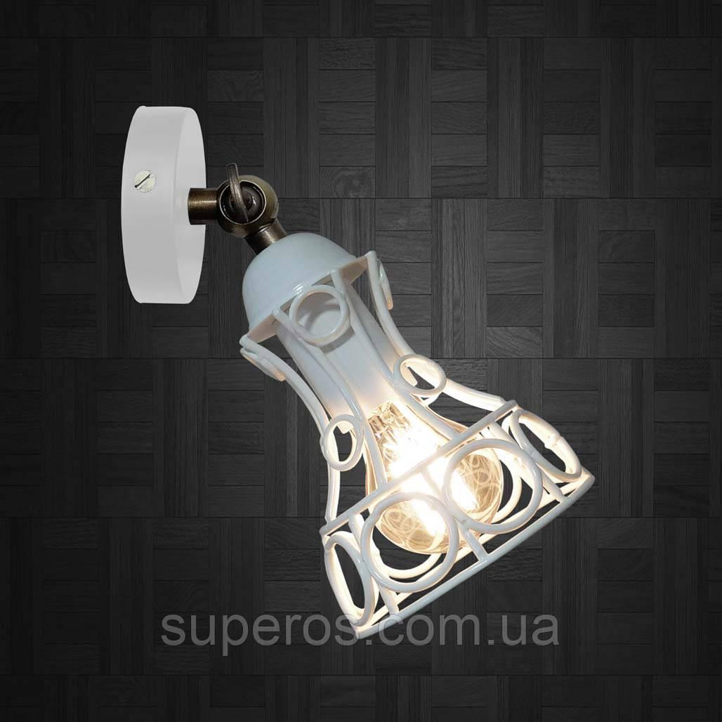 Світильник поворотний на 1-лампу RINGS/LS E27 бра білий