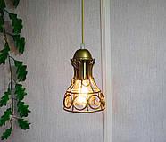Підвісна люстра на 5 ламп RINGS-5G E27 на круглій основі, золото, фото 2
