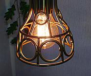 Підвісна люстра на 5 ламп RINGS-5G E27 на круглій основі, золото, фото 4