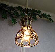 Підвісна люстра на 5 ламп RINGS-5G E27 на круглій основі, золото, фото 5