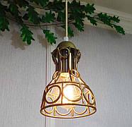 Підвісна люстра на 5 ламп RINGS-5G E27 на круглій основі, золото, фото 6