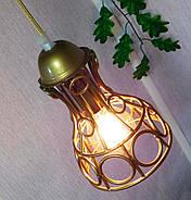 Підвісна люстра на 5 ламп RINGS-5G E27 на круглій основі, золото, фото 7