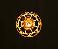 Підвісна люстра на 5 ламп RINGS-5G E27 на круглій основі, золото, фото 9