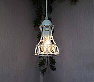 Подвесная люстра на 5-ламп RINGS-5G E27 на круглой основе, белый, фото 2