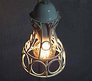Подвесная люстра на 5-ламп RINGS-5G E27 на круглой основе, белый, фото 3