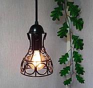 Підвісна люстра на 3-лампи RINGS-3G E27 на круглій основі, чорний, фото 3
