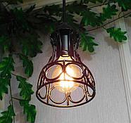 Подвесная люстра на 3-лампы RINGS-3G E27 на круглой основе, чёрный, фото 4