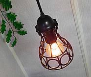Подвесная люстра на 3-лампы RINGS-3G E27 на круглой основе, чёрный, фото 5