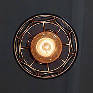 Підвісна люстра на 3-лампи RINGS-3G E27 на круглій основі, чорний, фото 6