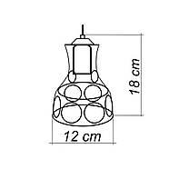 Підвісна люстра на 3-лампи RINGS-3G E27 на круглій основі, чорний, фото 7