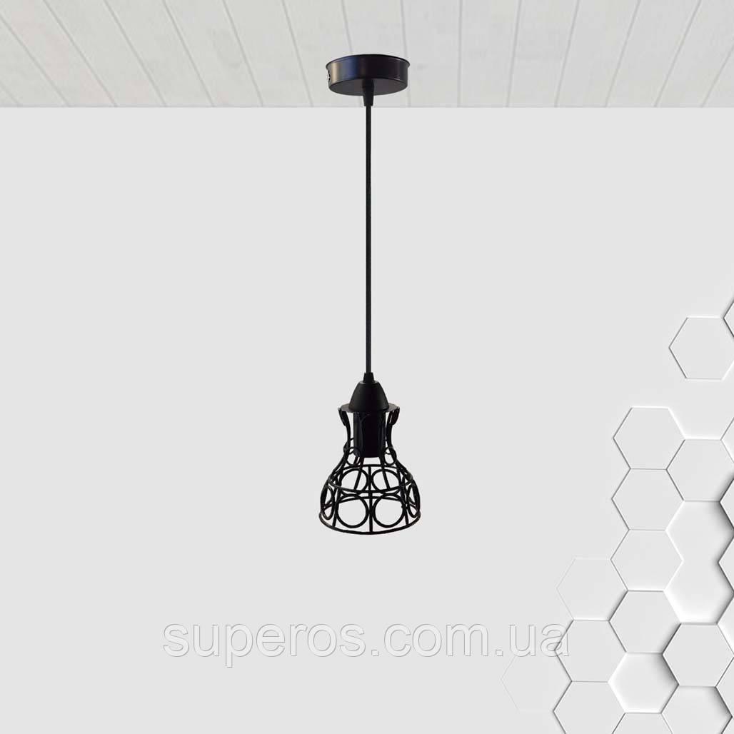 Підвісний світильник RINGS E27 чорний