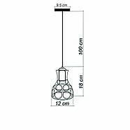 Підвісний світильник RINGS E27 чорний, фото 7