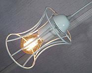 Подвесная люстра на 5-ламп SANDBOX-5G E27 на круглой основе, белый, фото 3