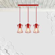 Підвісна люстра на 3-лампи SANDBOX-3 E27 червоний, фото 2
