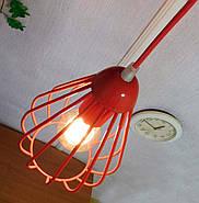 Подвесная люстра на 3-лампы FANTASY-3G E27 на круглой основе, красный, фото 2