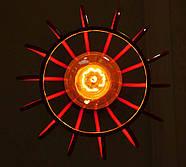 Подвесная люстра на 3-лампы FANTASY-3G E27 на круглой основе, красный, фото 4