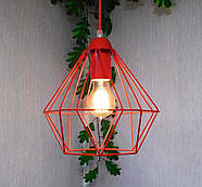 Подвесная люстра на 5-ламп CLASSIC-5 E27 красный, фото 7