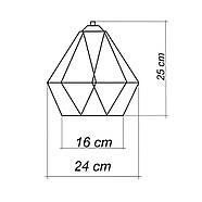 Подвесная люстра на 5-ламп CLASSIC-5 E27 красный, фото 10