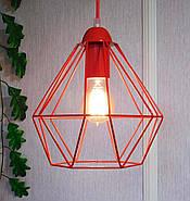 Копія Підвісна люстра на 3-лампи CLASSIC-3G E27 на круглій основі, червоний, фото 2