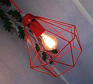 Копія Підвісна люстра на 3-лампи CLASSIC-3G E27 на круглій основі, червоний, фото 3
