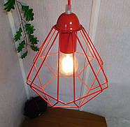 Копія Підвісна люстра на 3-лампи CLASSIC-3G E27 на круглій основі, червоний, фото 4