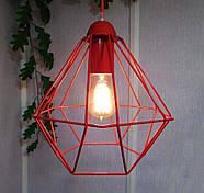 Копія Підвісна люстра на 3-лампи CLASSIC-3G E27 на круглій основі, червоний, фото 5