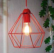 Копія Підвісна люстра на 3-лампи CLASSIC-3G E27 на круглій основі, червоний, фото 6