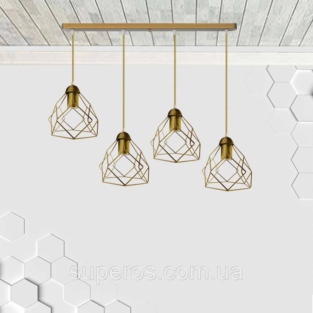 Подвесная люстра на 4-лампы RUBY-4 E27 золото