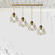 Подвесная люстра на 4-лампы RUBY-4 E27 золото, фото 2