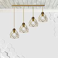 Подвесная люстра на 4-лампы RUBY-4 E27 золото, фото 4