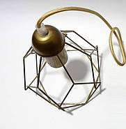 Подвесная люстра на 4-лампы RUBY-4 E27 золото, фото 7