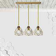 Підвісна люстра на 3-лампи RUBY-3 E27 золото, фото 2