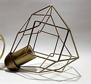Підвісна люстра на 3-лампи RUBY-3 E27 золото, фото 3