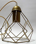 Підвісна люстра на 3-лампи RUBY-3 E27 золото, фото 4