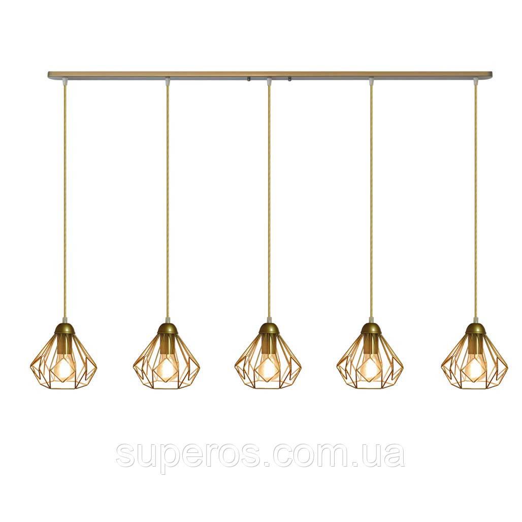 Подвесная люстра на 5-ламп SKRAB-5 E27 золото