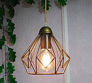 Підвісна люстра на 3-лампи SKRAB-3 E27 золото, фото 3