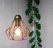Підвісна люстра на 3-лампи SKRAB-3 E27 золото, фото 4