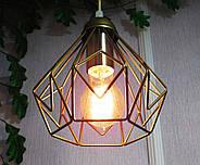 Підвісна люстра на 3-лампи SKRAB-3 E27 золото, фото 7
