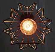 Підвісна люстра на 3-лампи SKRAB-3 E27 золото, фото 8