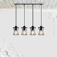 Підвісна люстра на 4-лампи SANDBOX-4 E27 чорний, фото 3