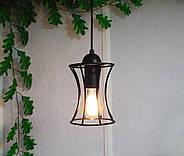 Підвісна люстра на 4-лампи SANDBOX-4 E27 чорний, фото 4