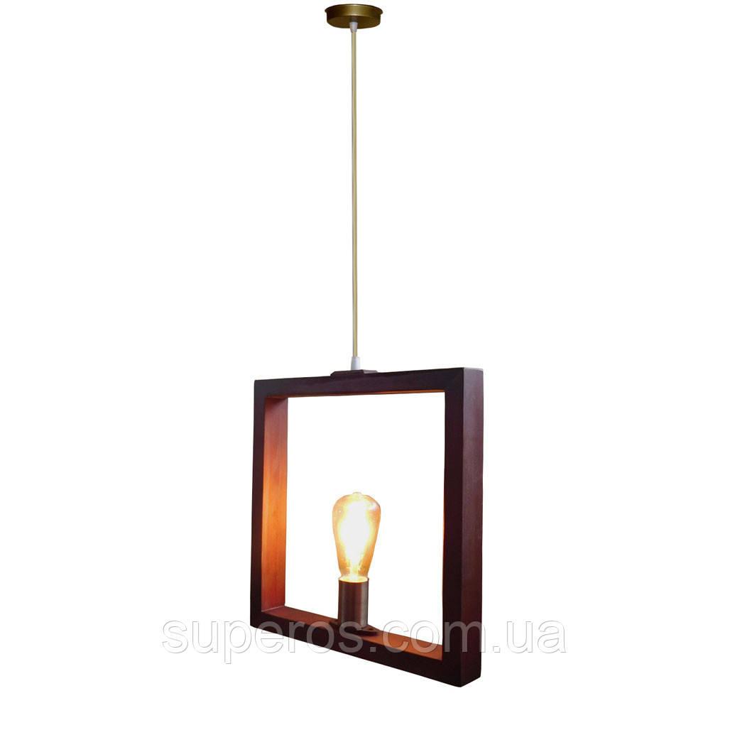 Подвесной светильник SQUARE E27 на 1-лампу, темное дерево