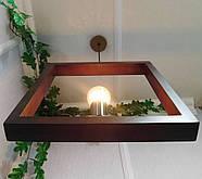 Подвесной светильник SQUARE E27 на 1-лампу, темное дерево, фото 4