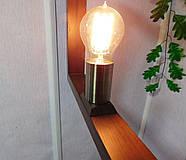 Подвесной светильник SQUARE E27 на 1-лампу, темное дерево, фото 5