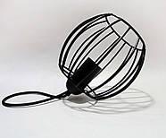 Підвісна люстра на 2-лампи BARREL-2 E27 чорний, фото 2
