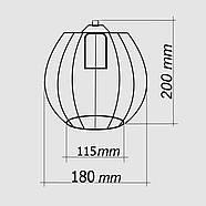 Підвісна люстра на 2-лампи BARREL-2 E27 чорний, фото 3