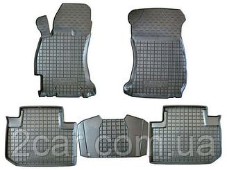 Коврики резиновые в салон для Ford Focus (3) 2011- (PolyteP_Clasic)