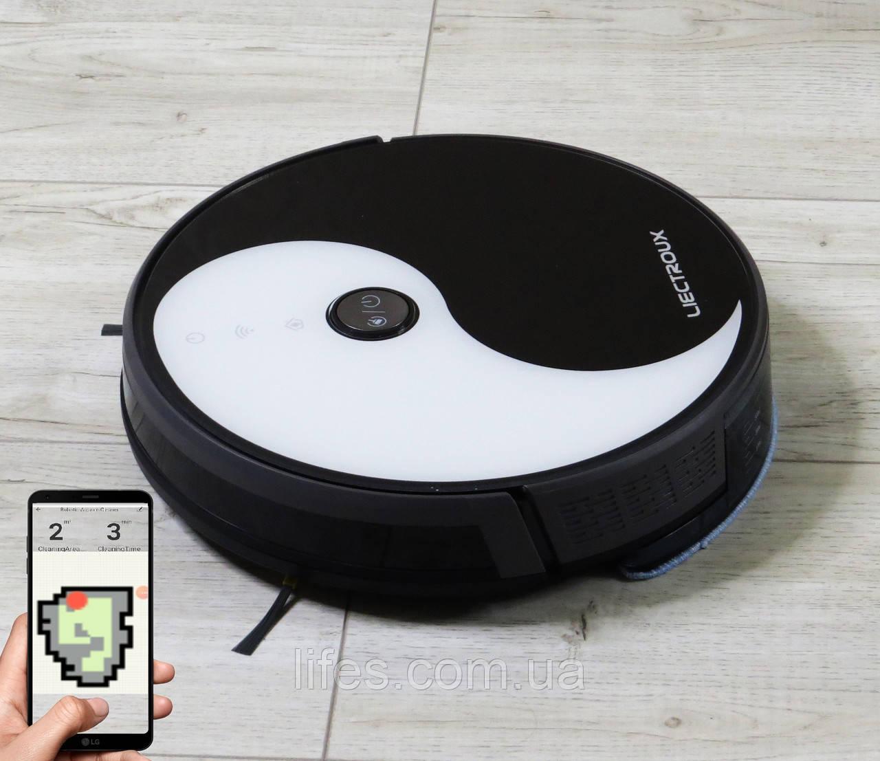 Робот - пылесос LIECTROUX C30B. Инь Янь. WI-FI. Немецкий бренд. Европейская версия. Модель 2021 года.